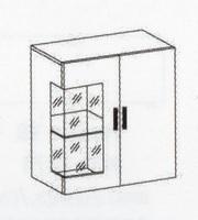 Эльза Секция мебельная навесная (МР-2856)