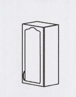 Оля МДФ навесной шкаф 300 ШКН-1029