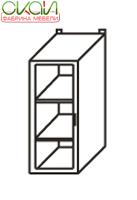 К-1 В-30/71-С Шкаф навесной 300 со стеклянной дверью